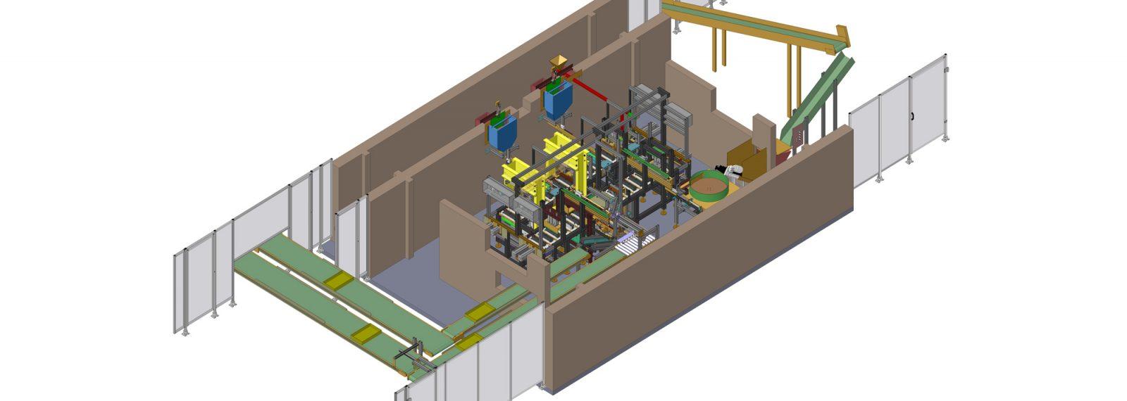 vollautomatische Produktionsanlage Treiber