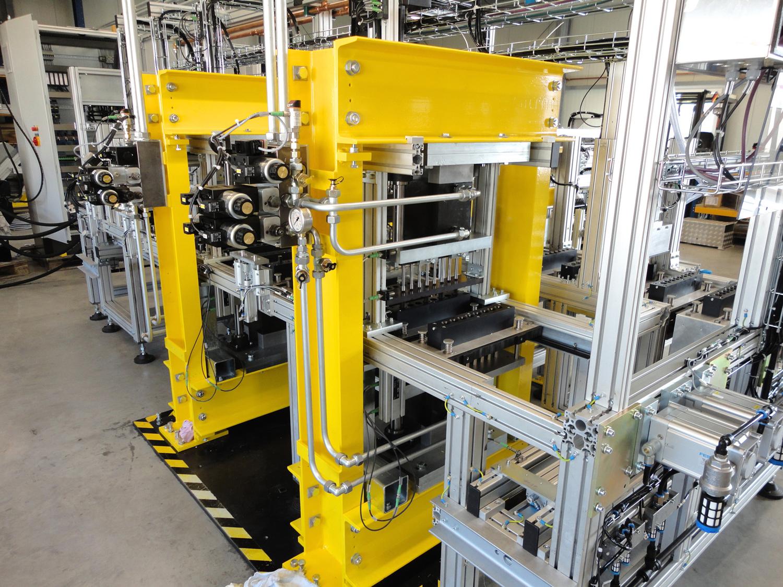 Detail: vollautomatische Produktionsanlage Treiber