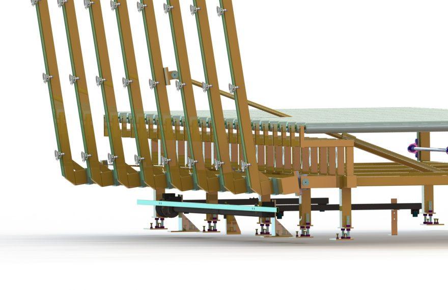 Transporttisch und Abstapelvorrichtung für Sheet- und Coilmaterial