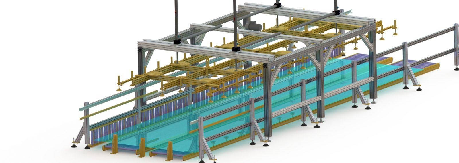 Vakuumhebe- und Stapelsystem für Paneele
