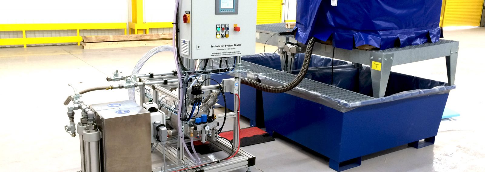 adhesive application IBC container and pump system