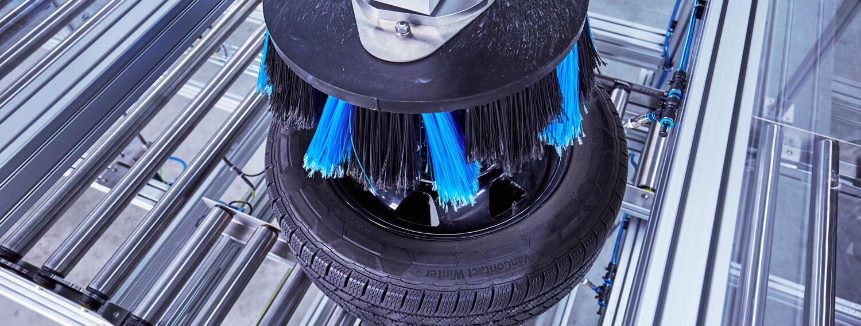 Felgenbürste Tellerbürste wäscht Reifen